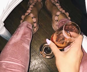 champagne, heels, and party image