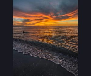 atardecer, mar, and nubes image