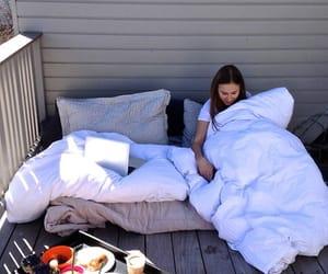 balcony, blanket, and breakfast image