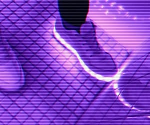 glowing, neon, and purple image