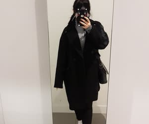 black, ootd, and black and white image