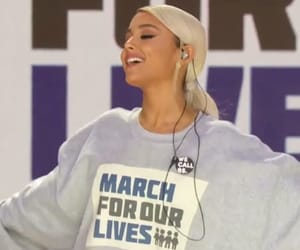ariana, grande, and march for our lives image