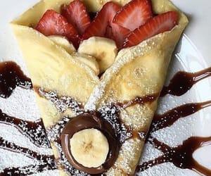 banana, chocolate, and crepe image
