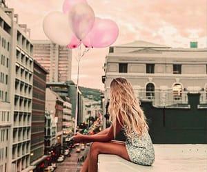 girl and balloons image