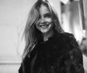 model, barbara palvin, and black and white image