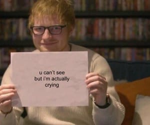 meme, crying, and ed sheeran image