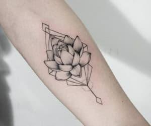 alternative, flowers, and tattoo image