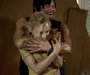 norman reedus, emily kinney, and bethyl image