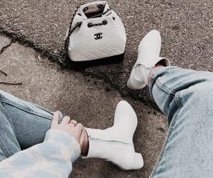 bag, chic, and denim image