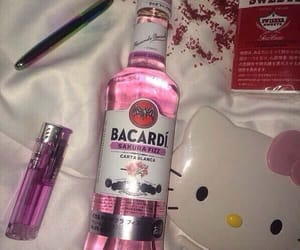 pink, bacardi, and alcohol image
