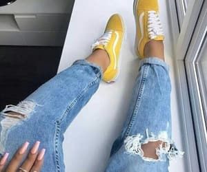 yellow, vans, and fashion image