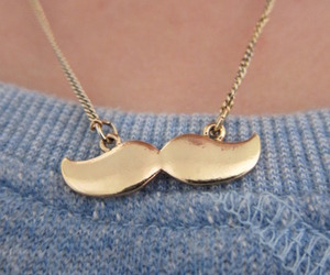 fashion, mustache, and necklace image