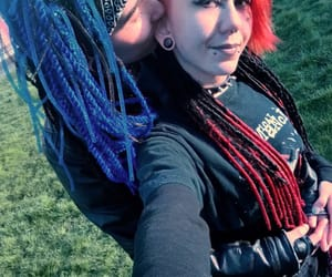 cyber, goth, and red dreads image