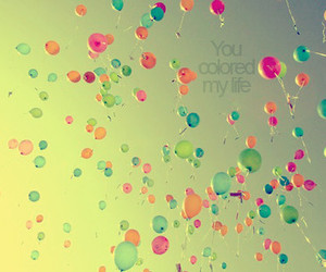baloons, life, and pastel image