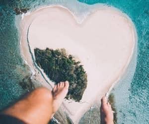heart, Island, and beach image