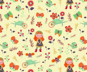 background, butterfly, and floral image