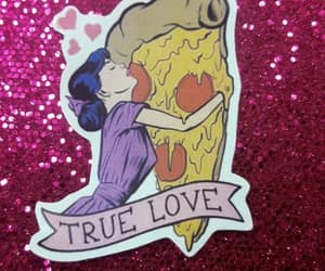girly, pizza, and love image