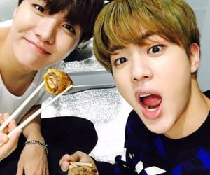food, jin, and kpop image