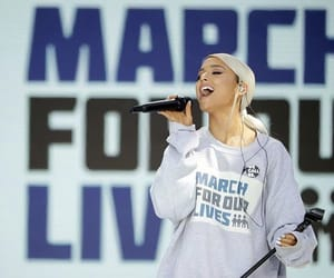 ariana, ariana grande, and march for our lives image