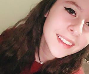 brown eyes, brunette, and selfie image