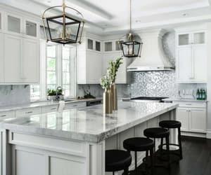 inspiration, kitchen, and white kitchen image