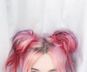 hair, pink, and eyes image