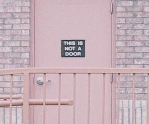 door, pink, and grunge image