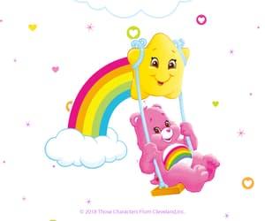bear, rainbow, and star image