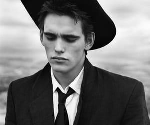 matt dillon, black and white, and hat image