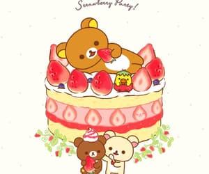 bear, berries, and rilakkuma image