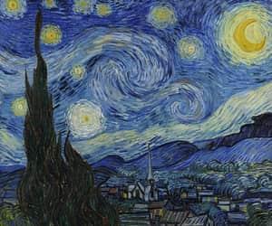 art, van gogh, and starry night image