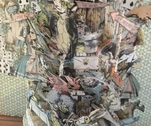 alice in wonderland, altered book, and recycled image