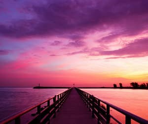pink, sky, and sunset image