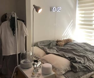 bed, cozy, and interior image