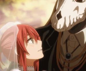 anime girl, gif, and anime couple image