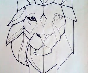 art, dibujo, and lion image