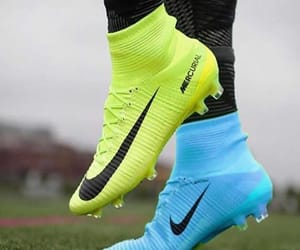 cleats, neon, and nike image