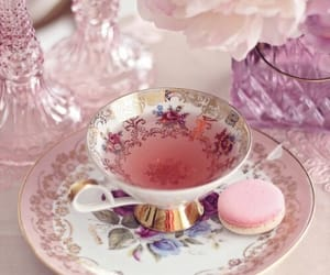 tea, drink, and flowers image