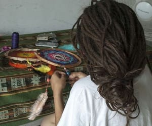 dreadlocks, dreads, and dream catcher image