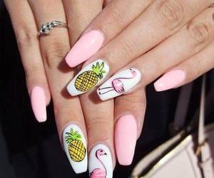 nails, nail art, and pineapple image