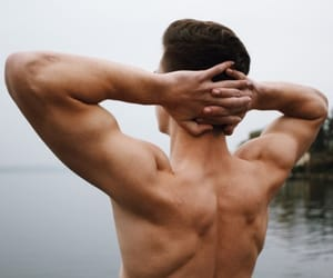 back, bare, and man image