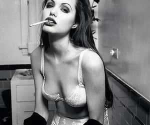 actress, Angelina Jolie, and cigarettes image