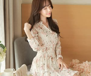 asian fashion, cherry blossom, and dress image