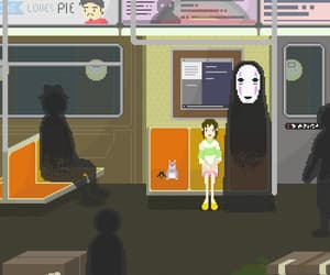 spirited away, pixel, and anime image
