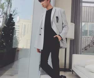 black, casual, and coat image