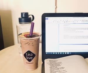 study, tea, and collegelife image