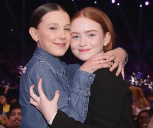 sadie sink, millie bobby brown, and stranger things image