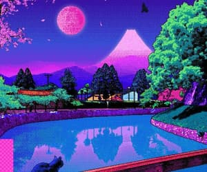 pixel, wallpaper, and vaporwave image