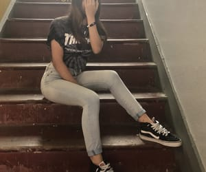girl, style, and thrasher image