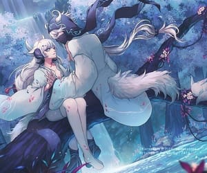 anime, water, and art image